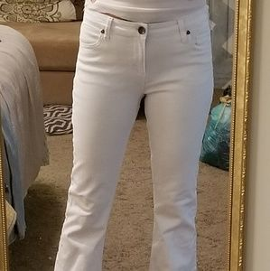Kut white flare jeans